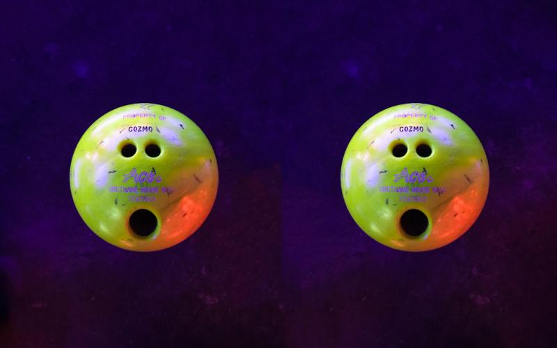 Two shocked balls